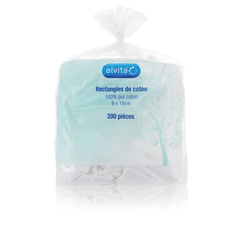 Alvita Rectangular Cotton Pads